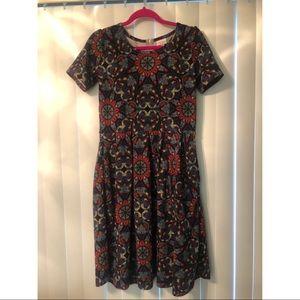 Paisley LuLaRoe Amelia pleated pocket dress